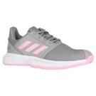 adidas Court Jam XJ  Junior Tennis Shoe - Granite/True Pink/White
