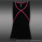 Eleven Overhead Tank Top- Black/Blossom Pink