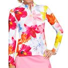 Tail Fun In The Sun Happy Long Sleeve Top - Lily HIbiscus