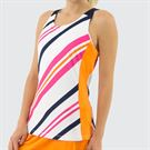 Fila Awning Stripe Tank Womens White/Orange Peel/Navy TW933489 101