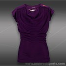 adidas Girls adiZero Cap Sleeve Top-Tribe Purple