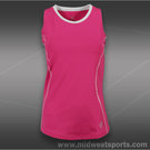 JoFit Morocco Cut Away Tank-Raspberry Pink