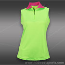 JoFit Morocco Sleeveless Mock Top-Neon Green