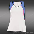 Tail Royal Vibe V-Neck Tank-White