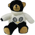 Clarke Plush Tennis Black Bear