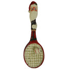Santa Racquet Ornament