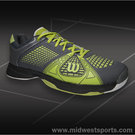 Wilson Rush NGX Mens Tennis Shoe Graphite/Green Glow WRS318540
