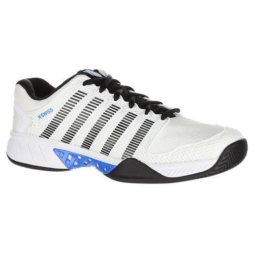K Swiss Hypercourt Express Mens Tennis Shoe - White/Black/Brilliant Blue