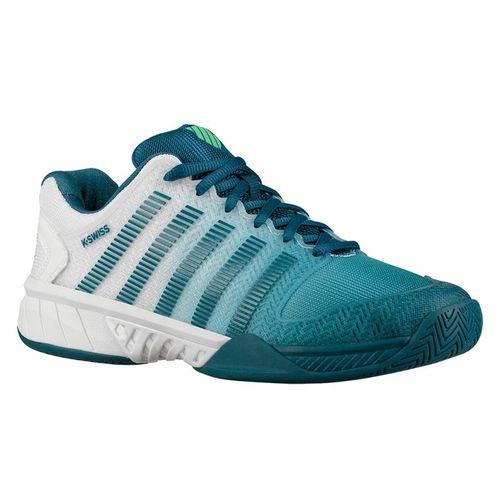 K Swiss Hypercourt Express Mens Tennis Shoe - White/Corsair/Spring Bud