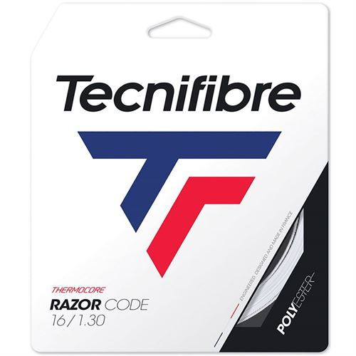 Tecnifibre Razor Code 16G White (1.30mm) Tennis String