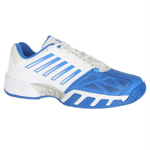 d19c43b2eace K Swiss Bigshot Light 3 Mens Tennis Shoe - White Brilliant Blue Black