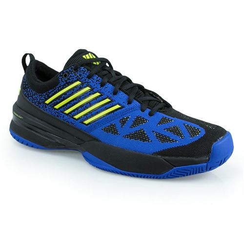 K Swiss Knitshot Mens Tennis Shoe - Black/Blue/Neon Citron