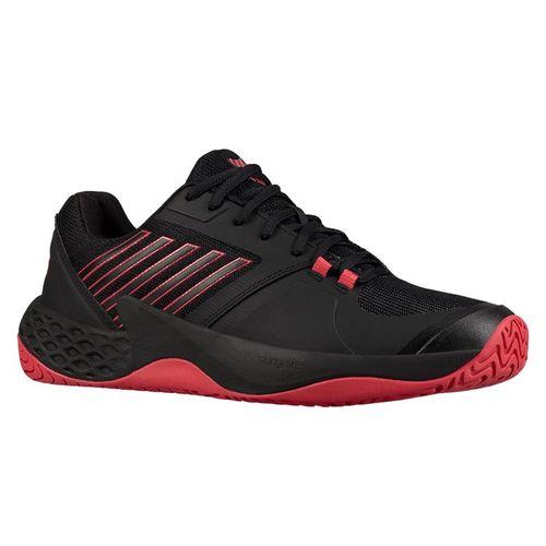 K Swiss Aero Court Mens Tennis Shoe - Black/Lollipop Red/White