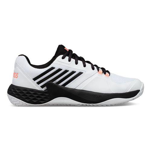 K Swiss Aero Court Mens Tennis Shoe White/Black/Soft Neon Orange 06134 134