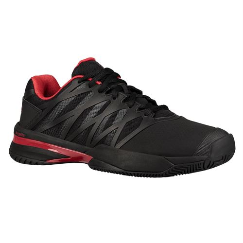 K Swiss Ultrashot 2 Mens Tennis Shoe - Black/Lollipop Red