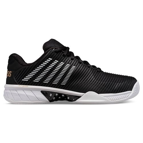K Swiss Hypercourt Express 2 Mens Tennis Shoe Black/Gold/White 06613 093