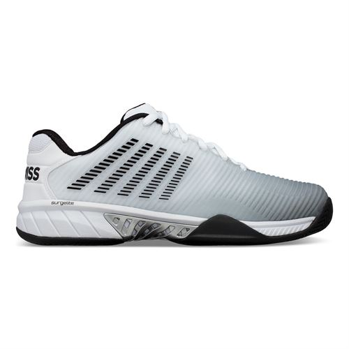 K Swiss Hypercourt Express 2 Wide 2E Mens Tennis Shoe White/Black/Highrise 06806 131