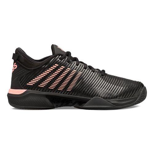 K Swiss Hypercourt Supreme Mens Tennis Shoe Black/Soft Neon Orange 06615 023