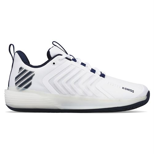 K Swiss Ultrashot 3 Mens Tennis Shoe White/Peacoat/Silver 06988 177