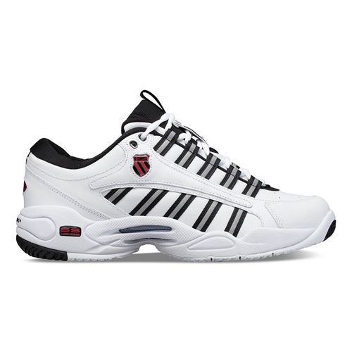 K Swiss Ultrascendor Mens Tennis Shoe - White/Black/Lollipop Red