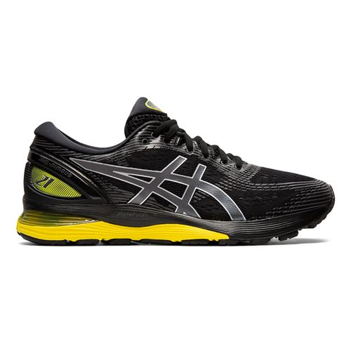 Asics Gel Nimbus 21 Mens Running Shoe Black/Yellow 1011A169 003