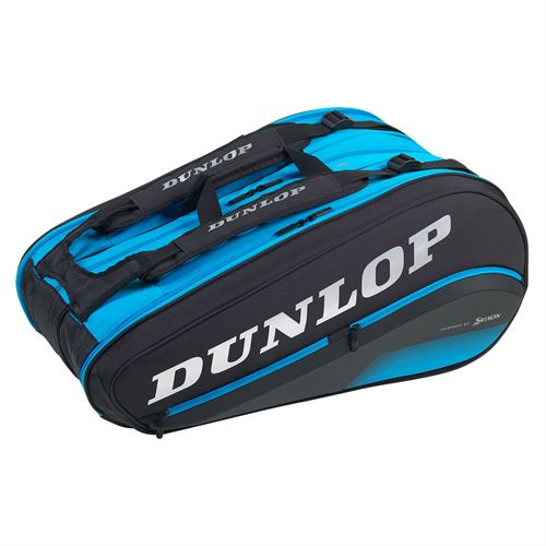 Dunlop FX Performance 12 Pack Tennis Bag - Black/Blue