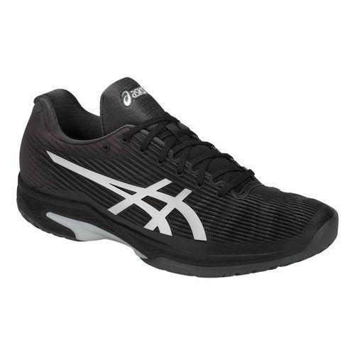 bf03fee915a0 Asics Solution Speed FF Mens Tennis Shoe - Black Silver