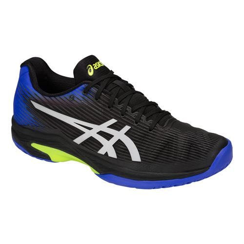 Asics Solution Speed FF Mens Tennis Shoe - Black/Illusion Blue