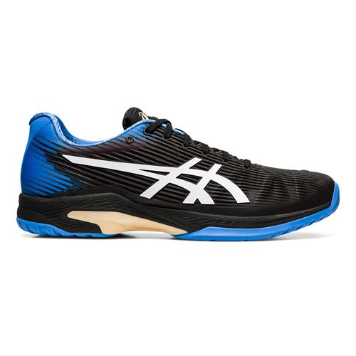 Asics Solution Speed FF Mens Tennis Shoe Black/Blue Coast 1041A003 102