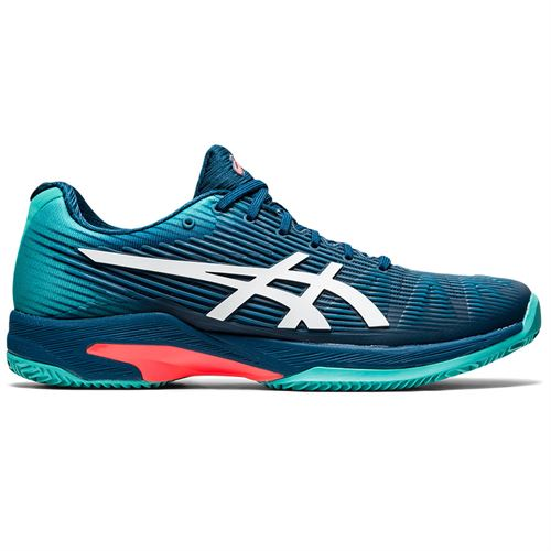 Asics Solution Speed FF Clay Mens Tennis Shoe Mako Blue/White 1041A004 407