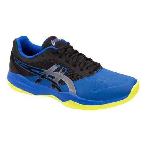 the latest b6ce0 e8aaa Asics Gel Game 7 Mens Tennis Shoe - Black Illusion Blue