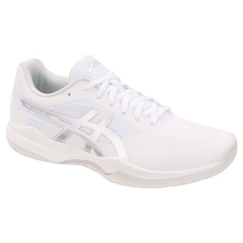 Asics Gel Game 7 Mens Tennis Shoe - White/Silver