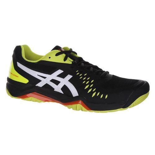 Asics Gel Challenger 12 Mens Tennis Shoe - Black/Sour Yuzu