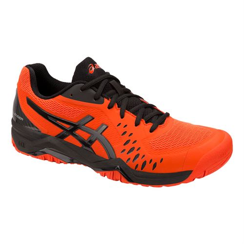 low priced 8e216 3d9a2 Asics Gel Challenger 12 Mens Tennis Shoe - Cherry Tomato Black