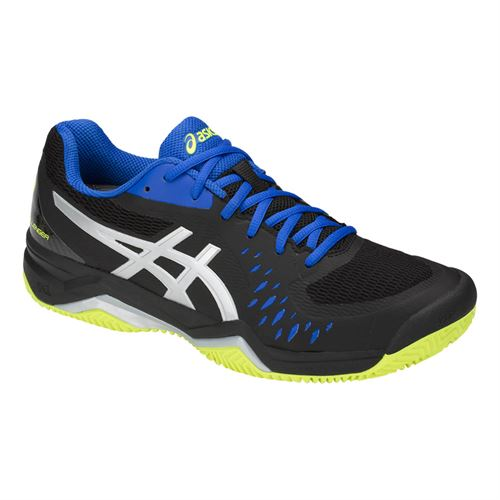 Asics Gel Challenger 12 Clay Mens Tennis Shoe - Black/Silver
