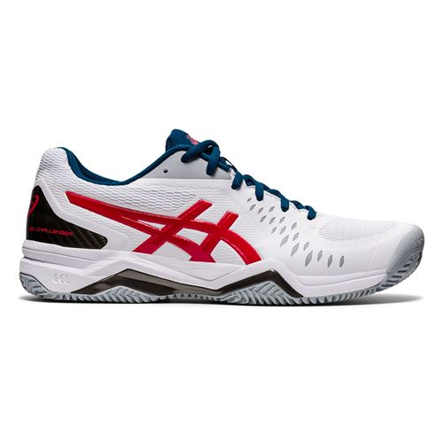 Asics Gel Challenger 12 Clay Mens Tennis Shoe White/Classic Red 1041A048 117