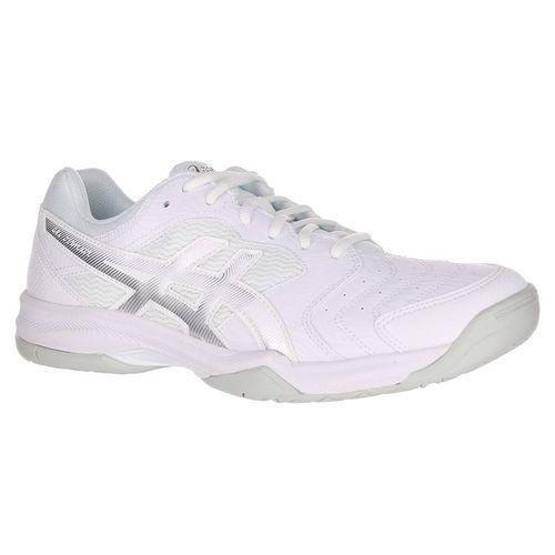 Asics Gel Dedicate 6 Mens Tennis Shoe - White/Silver