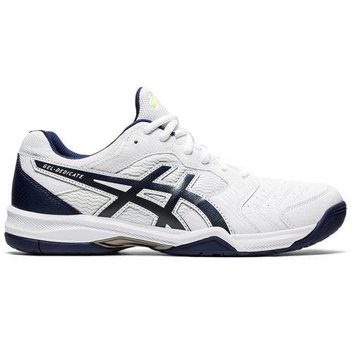 Asics Gel Dedicate 6 Mens Tennis Shoe White/Peacoat 1041A074 103
