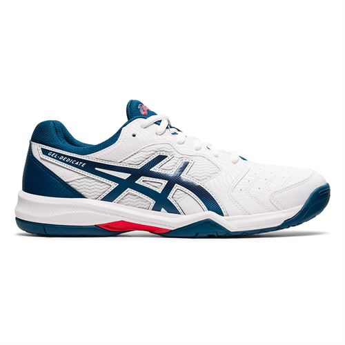 Asics Gel Dedicate 6 Mens Tennis Shoe White/Mako Blue 1041A074 104