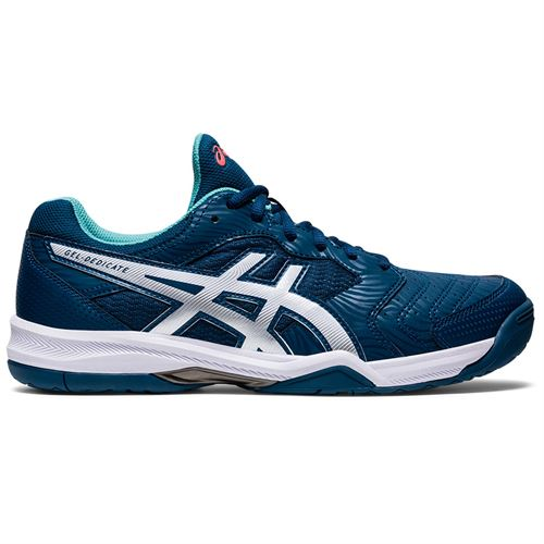 Asics Gel Dedicate 6 Mens Tennis Shoe Mako Blue/White 1041A074 404