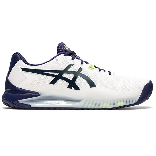 Asics Gel Resolution 8 Mens Tennis Shoe White/Peacoat 1041A079 102