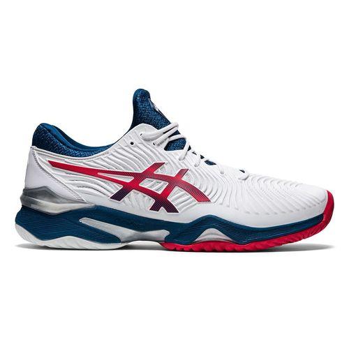 Asics Court FF 2 Mens Tennis Shoe White/Mako Blue 1041A083 102