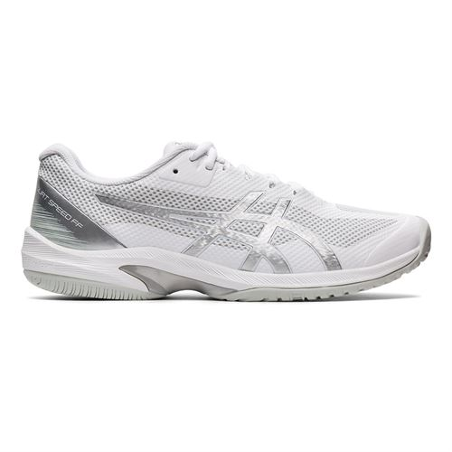 Asics Court Speed FF Mens Tennis Shoe White/Pure Silver 1041A092 102
