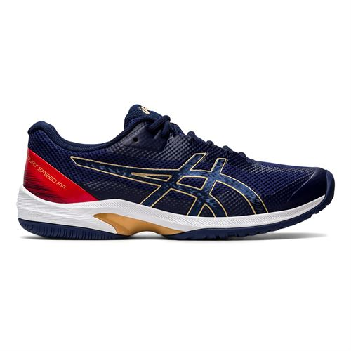 Asics Court Speed FF Mens Tennis Shoe Navy Gold 1041A092 401