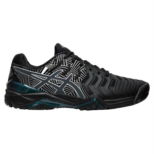 Asics Gel Resolution 7 LE Womens Tennis Shoe Black/Silver 1042A092 001