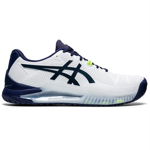 Asics Gel Resolution 8 Mens Tennis Shoe White/Peacoat 1041A113 102