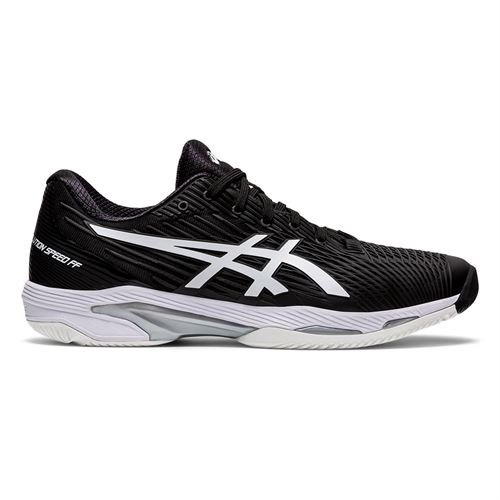 Asics Solution Speed FF 2 Mens Tennis Shoe Black/White 1041A182 001