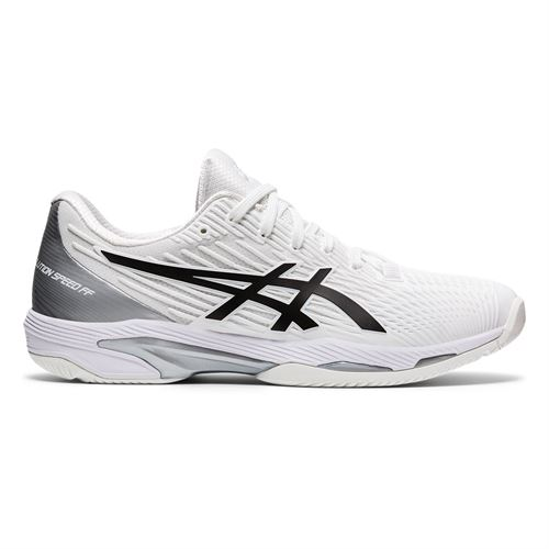 Asics Solution Speed FF 2 Mens Tennis Shoe White/Black 1041A182 100