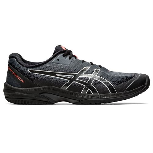 Asics Court Speed FF LE Mens Tennis Shoe Black/Sunrise Red 1041A183 010