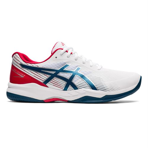 Asics Gel Game 8 Mens Tennis Shoe White/Mako Blue 1041A192 102
